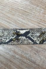 Jewelry Cobra Wide Leather Cuff