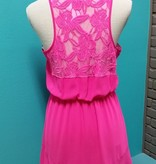 Dress Hot Pink Lace Dress