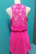 Dress Hot Pink Lace Dress