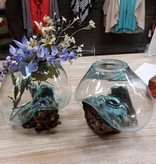 Decor Molten Wood/Glass Vase, Large
