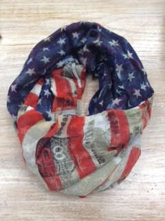 Accessory Stars and Stripes Infinity Scarf
