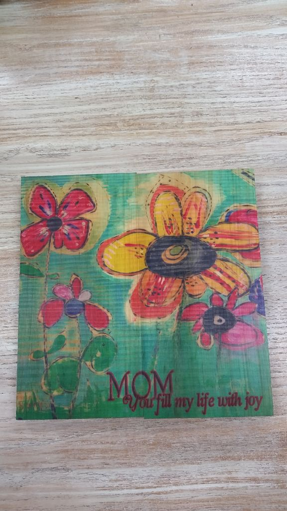 Decor Mom You Fill Wall Sign