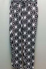 Pant Black & White Silk Pant