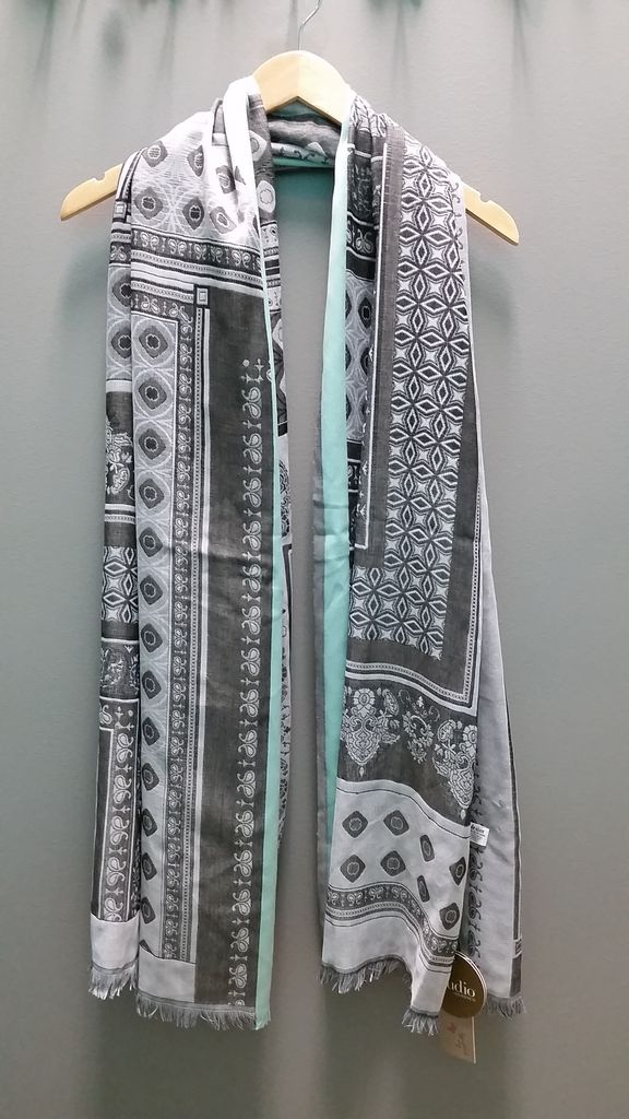 Scarf Gray/Mint Woven Scarf