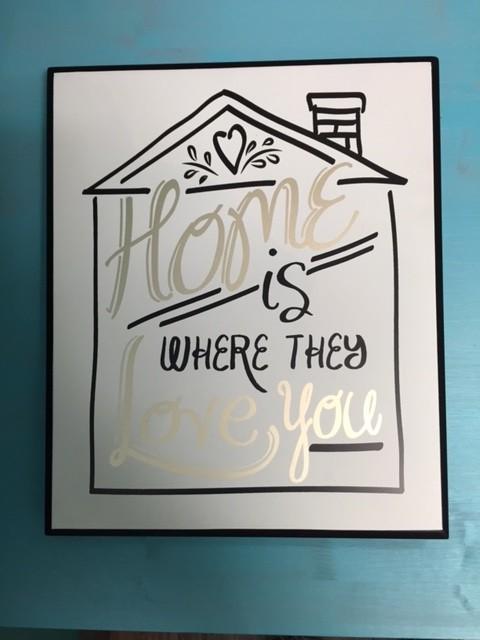 Decor Home Is Where Wall Art