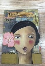 Art Love Girl w/ Flower Wall Art