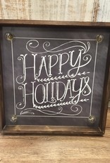 Art Happy Holidays Lit Wall Art 15.5""