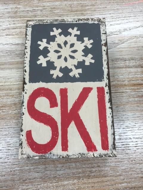 Decor Ski Wall Art 5x8