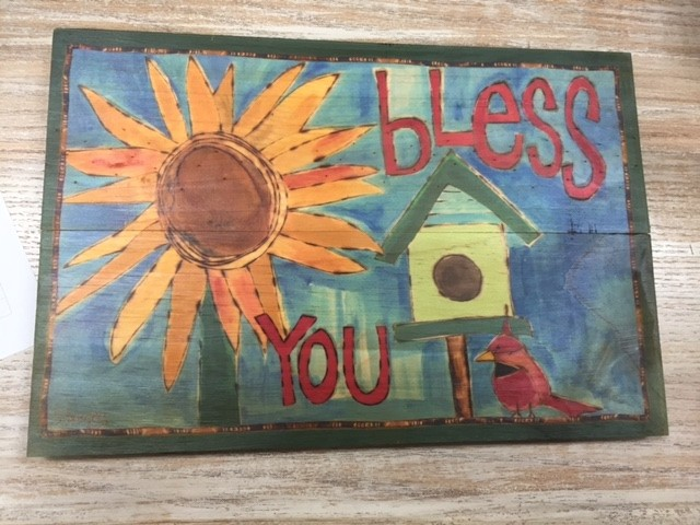 Art Bless You Wall Sign