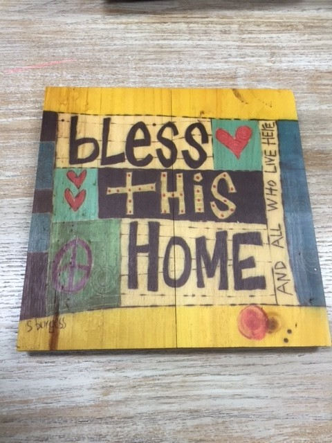 Art Bless This Home Wall Sign