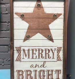 Art Merry & Bright Lig Wall Art 25x15