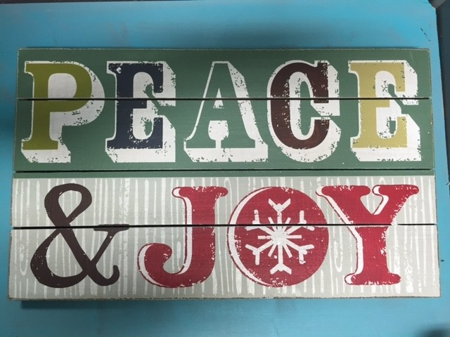 Art Peace & Joy Wall Art 13.5x22.5