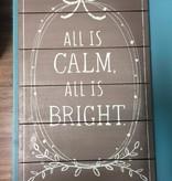 Art All Is Calm Wall Art 13.5x22.5