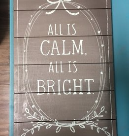 Art All Is Calm Wall Art 13.5x22.5