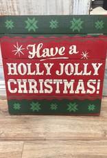 Decor Holly Jolly Christmas Wall Sign