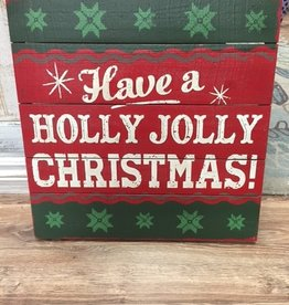 Decor Holly Jolly Christmas Wall Sign