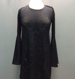 Dress Blk Bell Sleeve Lace Dress
