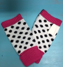 Gloves Polka Dot Fingerless Mittens
