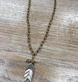 Jewelry Vintage Feather Necklace