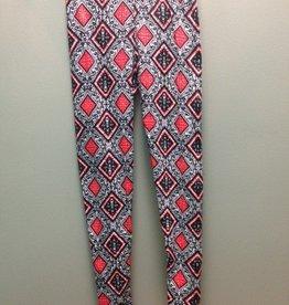 Leggings Blk/Red Diamond Leggings