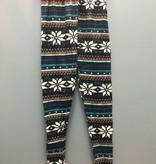 Leggings Fleece Lined Leggings-Blk Multi OneSize
