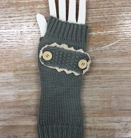 Gloves Button Design Arm Warmers