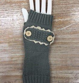 Gloves Button Design Arm Warmers