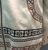 Jacket Beige Oversize Embroid Jacket