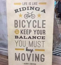 Decor Bicycle Wall Art 19x30