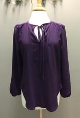 Long Sleeve LS Blouse w/ Tie