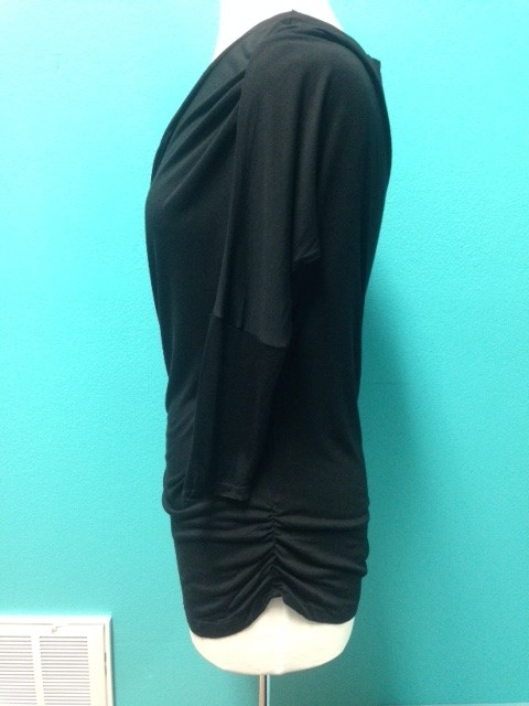 Top Ruched Side Solid Top