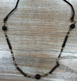 Jewelry Purple Leather Knot Necklace