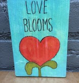 Decor Love Blooms Wooden Sign