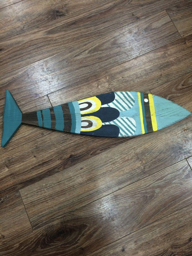 Decor Big Reclaimed Wood Fish
