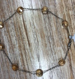 Jewelry Amber Glass Prism Necklace