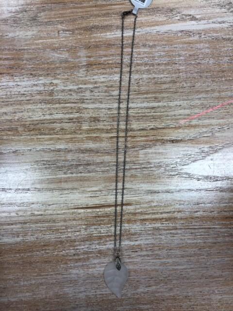 Jewelry Glass Leaf Necklace