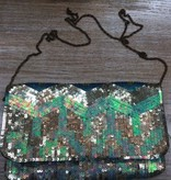 Bag Chevron Sequin Clutch