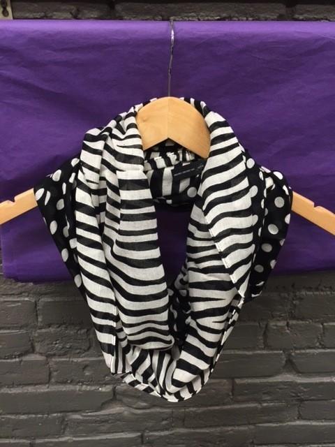 Scarf Polka Dot Zebra Infinity Scarf