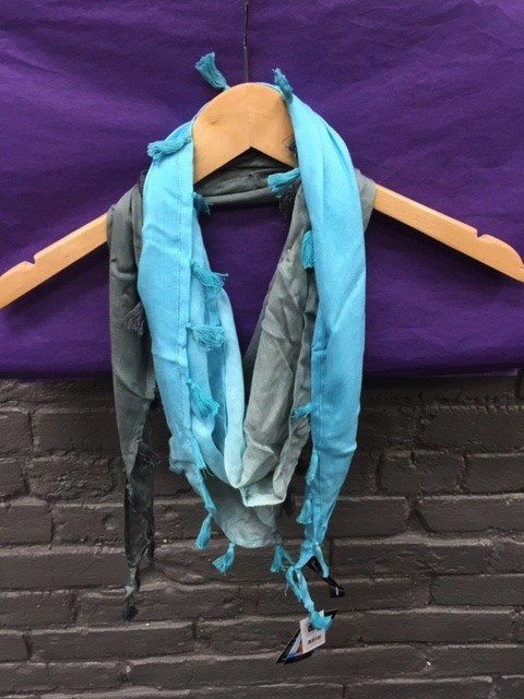 Scarf Ombre Triangle Scarf w/ Tassels