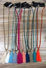 Jewelry Beaded Necklace w/ Tassel