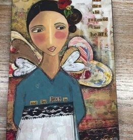 Decor Followed Her Heart Wall Art 8x12
