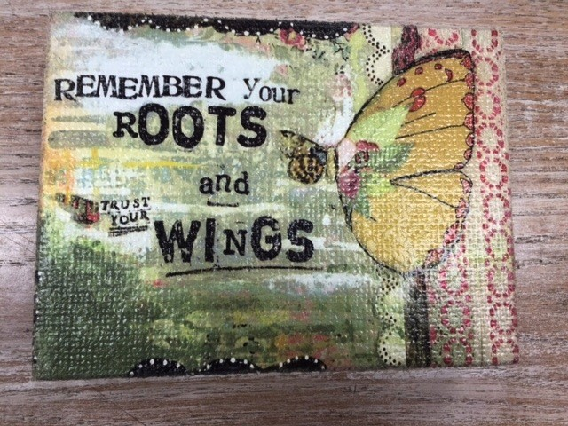 Decor Trust Your Wings Wall Art 6x8
