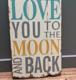 Decor Love You To Wall Art 12x19