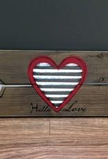 Decor Hello Love Wall Art 21.5x7.5