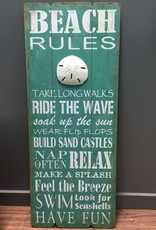 Decor Beach Rules Wall Art 16x40