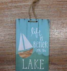 Decor Life is Better 8x5 Tag