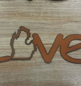 Decor Love MI Metal Sign