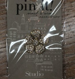 Accessory Gold Flower Pin