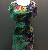 Dress Mint Floral Short Sleeve Dress