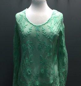 Long Sleeve Mint LS Sheer Floral